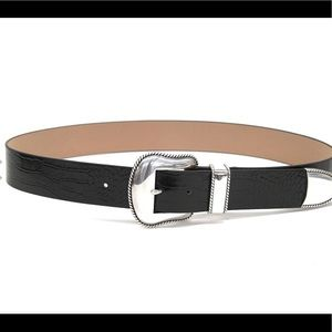 NWT B-Low the belt black leather size S